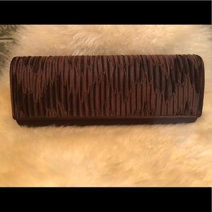 KATE LANDRY 🤎 Brown Satin Evening Bag Clutch